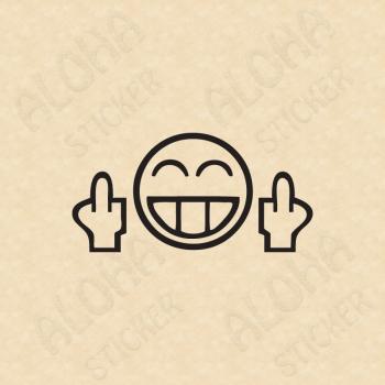 Smiley Mittelfinger